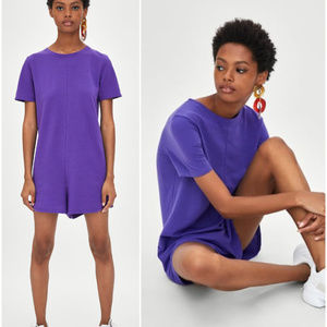[LAST]NWT Size S Zara Purple Short Jumpsuit
